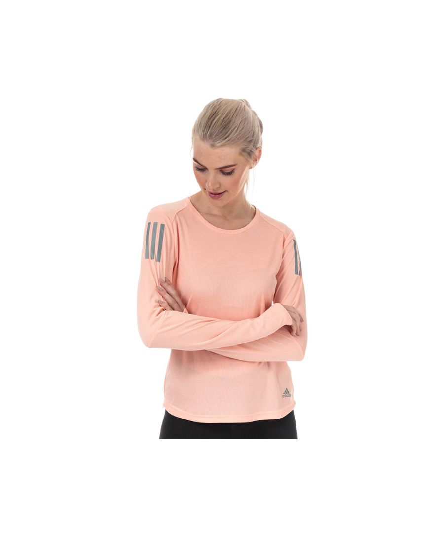 Image for Women's adidas Own The Run Long Sleeve T-Shirt in Pink