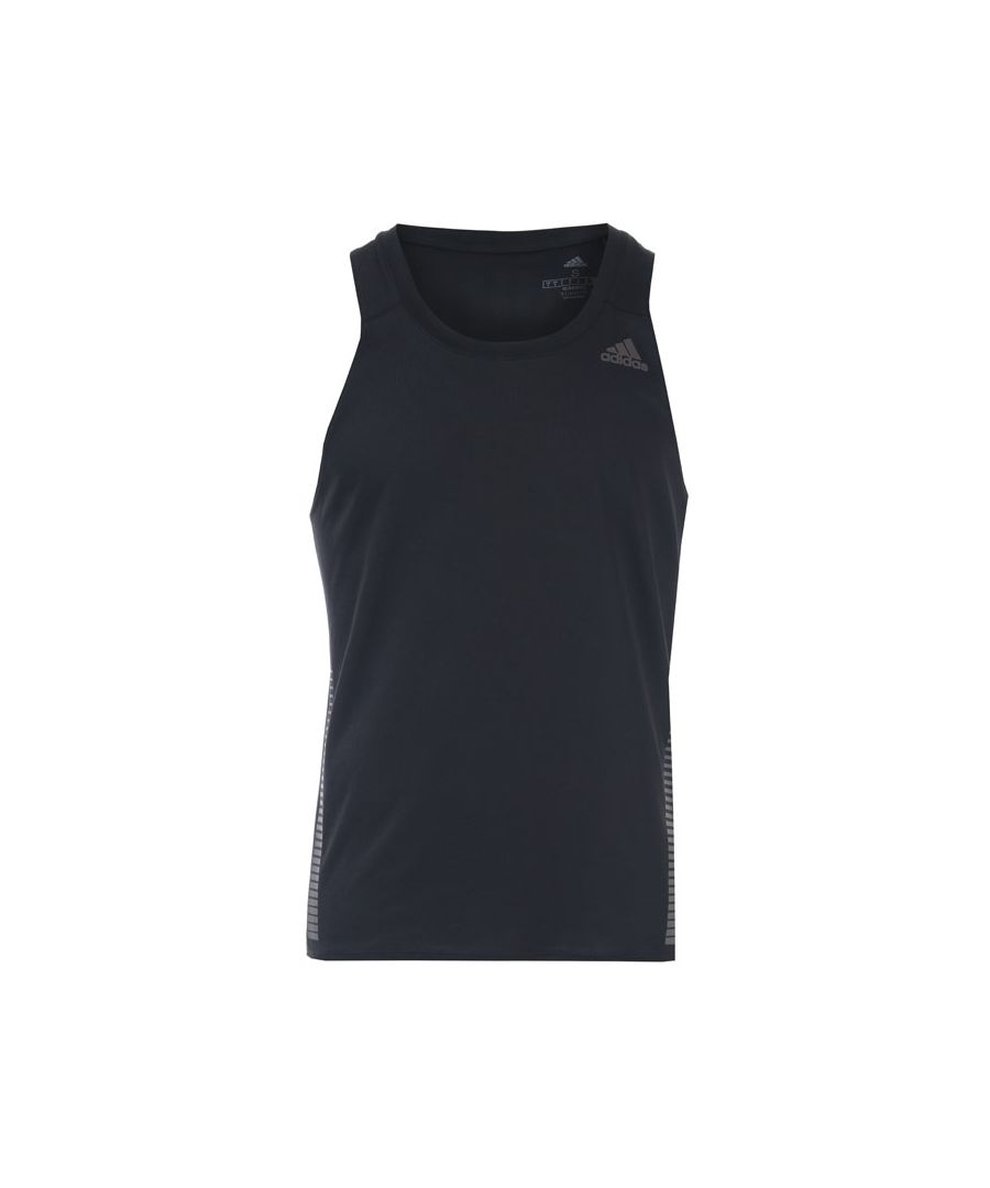 Image for Men's adidas Rise Up N Run Singlet Vest in Black