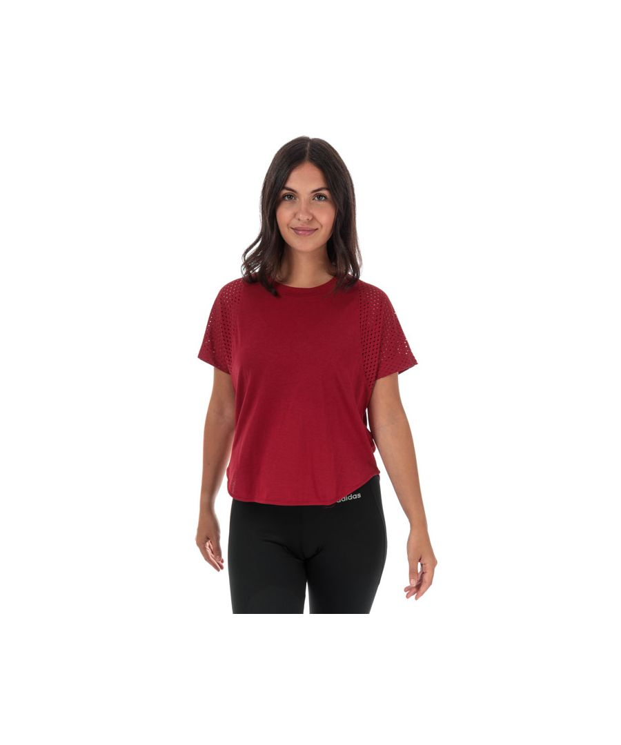 Image for Women's adidas ID Mesh T-Shirt in Burgundy