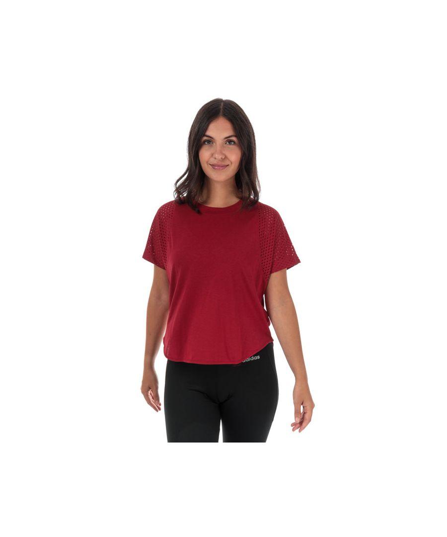 Image for Women's adidas ID Mesh T-Shirt in Burgundy
