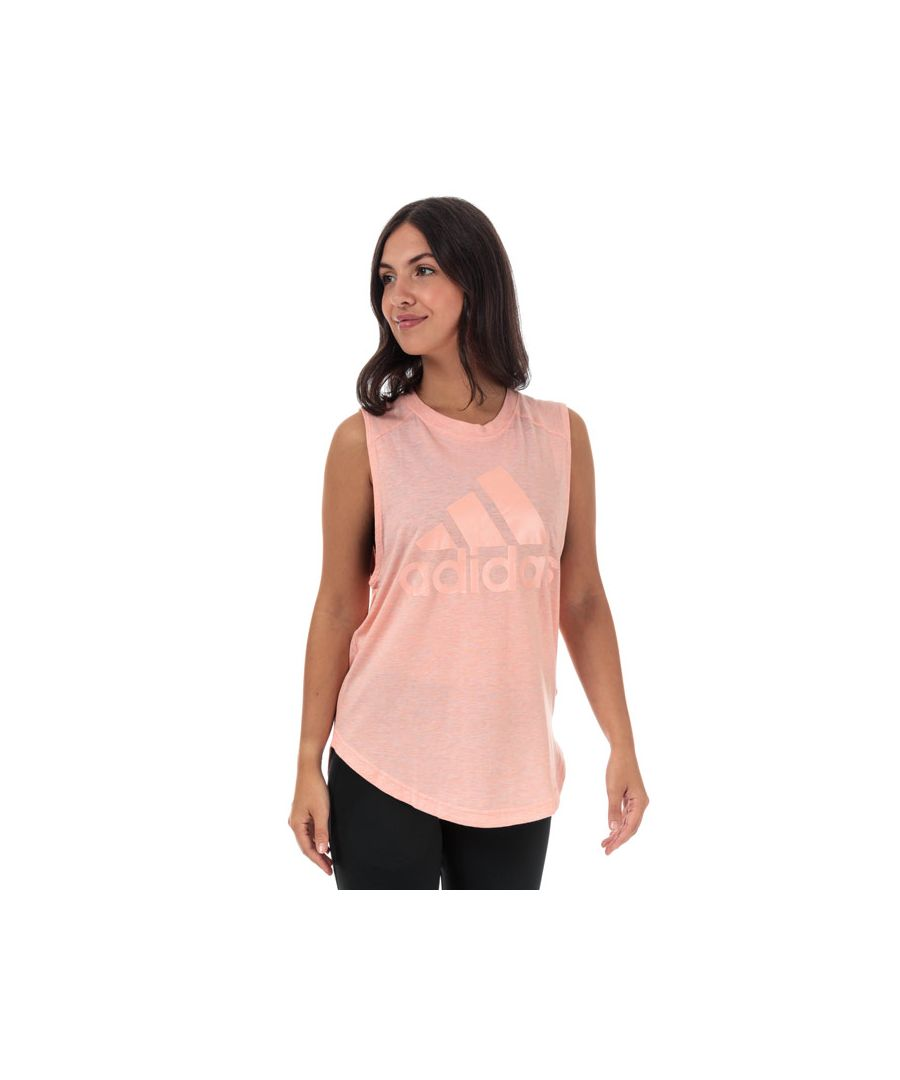 Image for Women's adidas ID Winners Muscle Tank Top in Pink