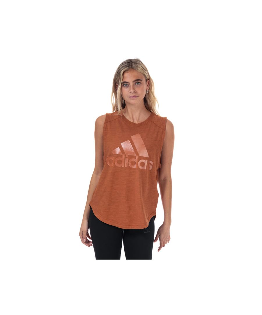 Image for Women's adidas ID Winners Muscle Tank Top in Copper