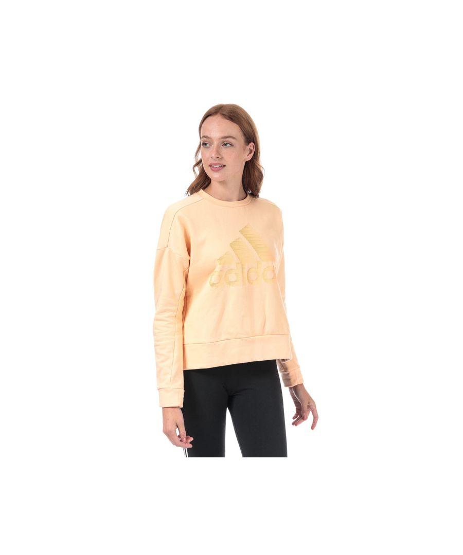 Image for Women's adidas ID Glam Crew Sweatshirt in Peach