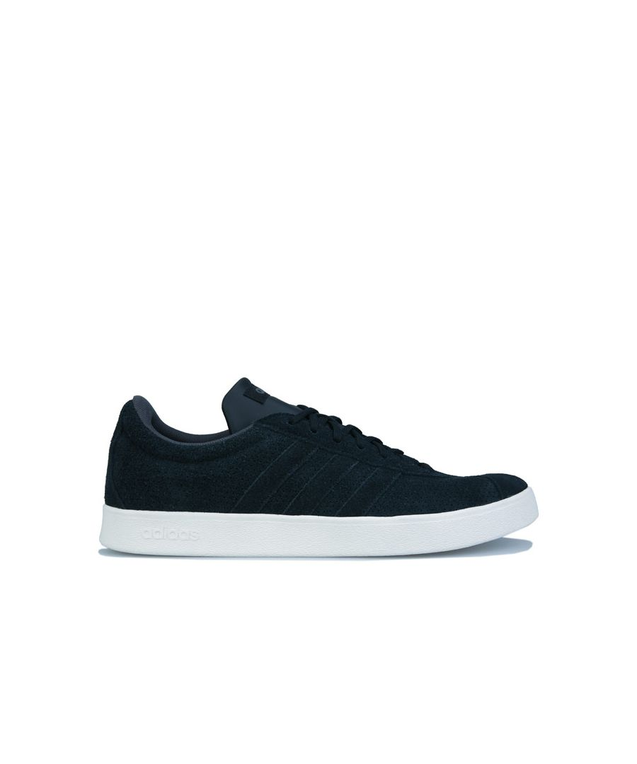 Image for Men's adidas VL Court 2.0 Trainers in Black Grey
