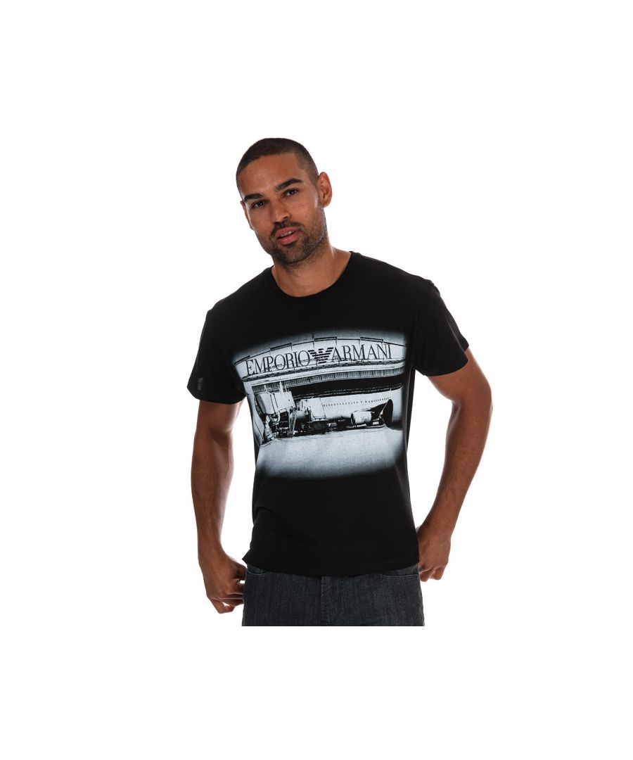 Image for Men's Armani Graphic T-Shirt in Black