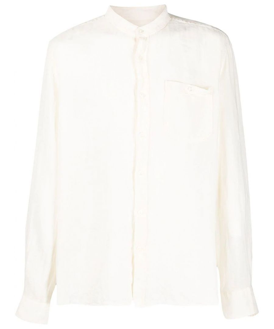 Image for WOOLRICH MEN'S WOSI0028MRUT21308929 WHITE LINEN SHIRT