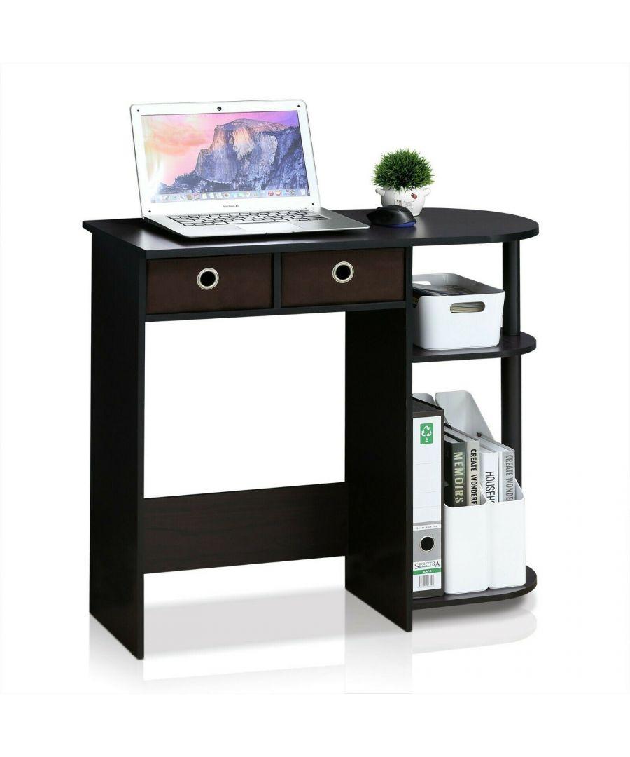 Image for Furinno Go Green Home Laptop Notebook Computer Desk/Table, Dark Walnut