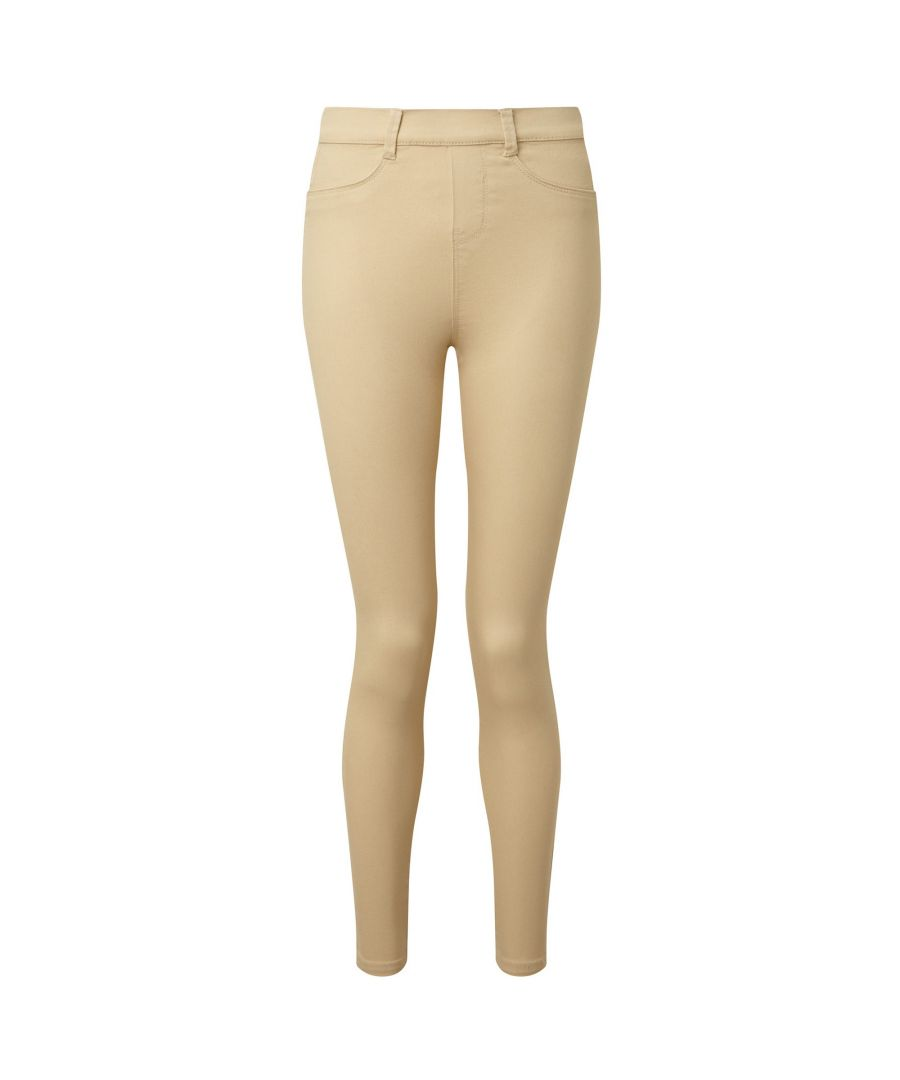 Image for Asquith & Fox Womens/Ladies Classic Fit Jeggings (Natural)