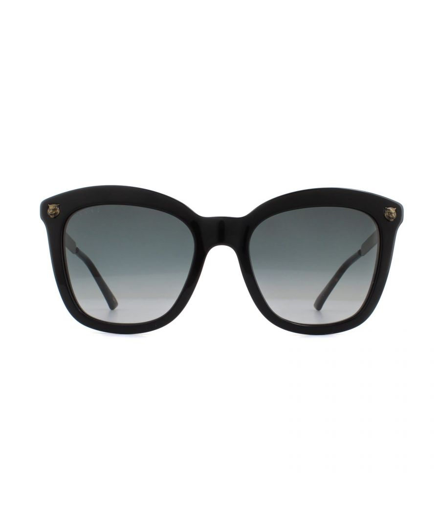 Image for Gucci Sunglasses GG0217S 001 Black Gold Grey