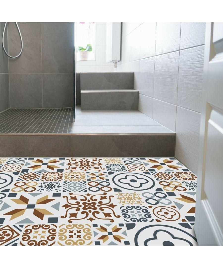 Image for WFS6013 - Azulejo Tiles Melange Floor Sticker 120cm x 60 cm