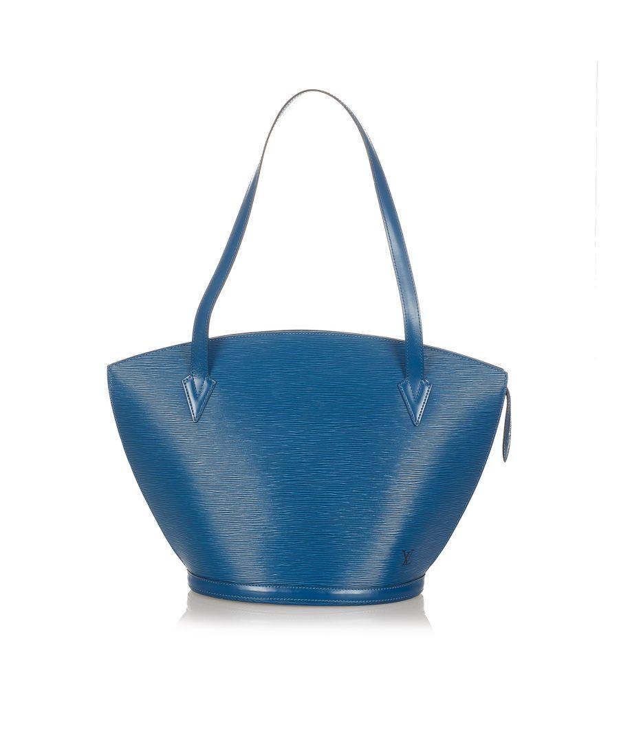 Image for Vintage Louis Vuitton Epi Saint Jacques GM Long Strap Blue