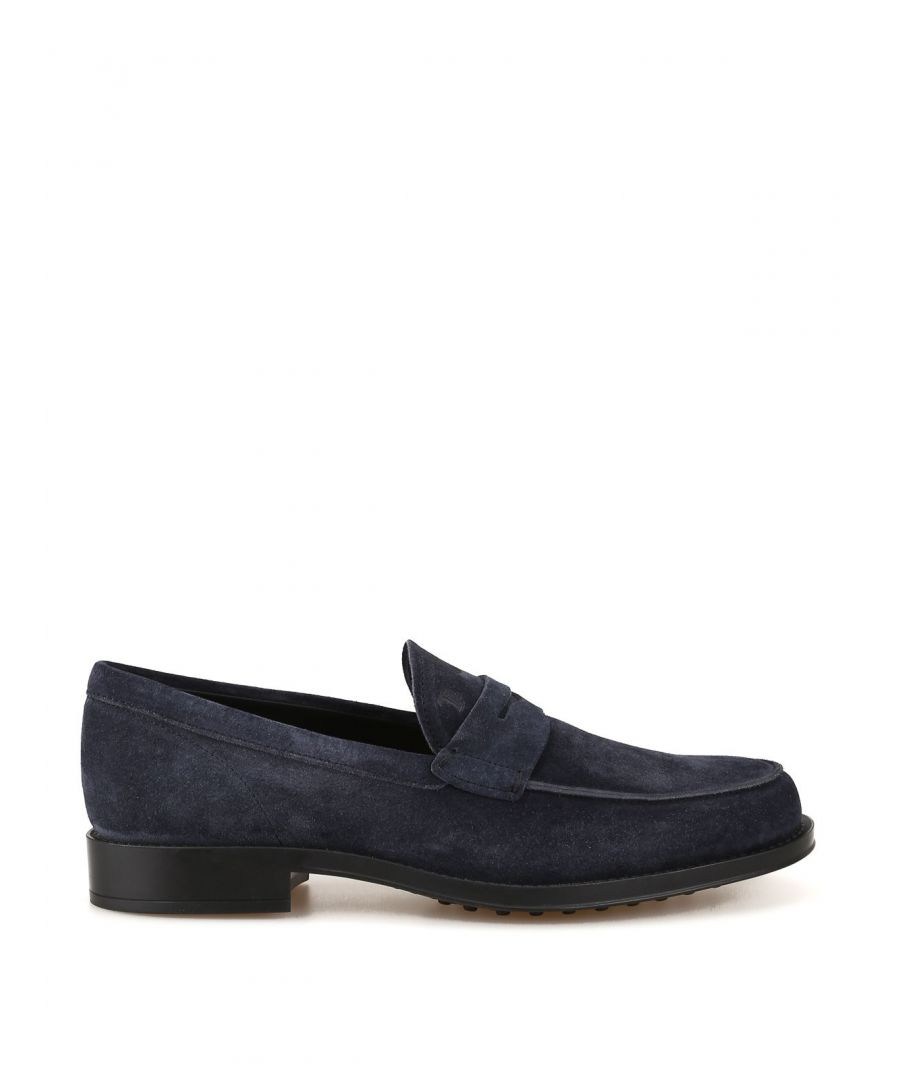 Image for TOD'S MEN'S XXM0UD00640RE0U805 BLUE SUEDE LOAFERS