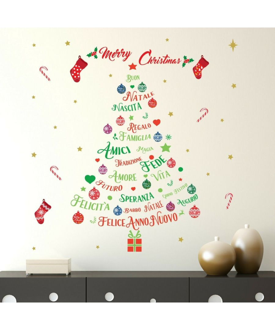 Image for WFXC6303 - COM - WS4025 + WS3322 - Italian Quotes Merry Christmas Tree