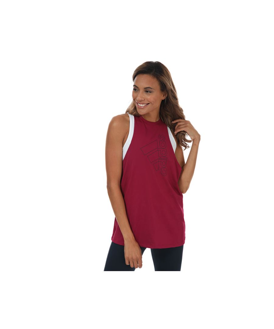 Image for Women's adidas Tech Badge Of Sport Tank Top in Berry