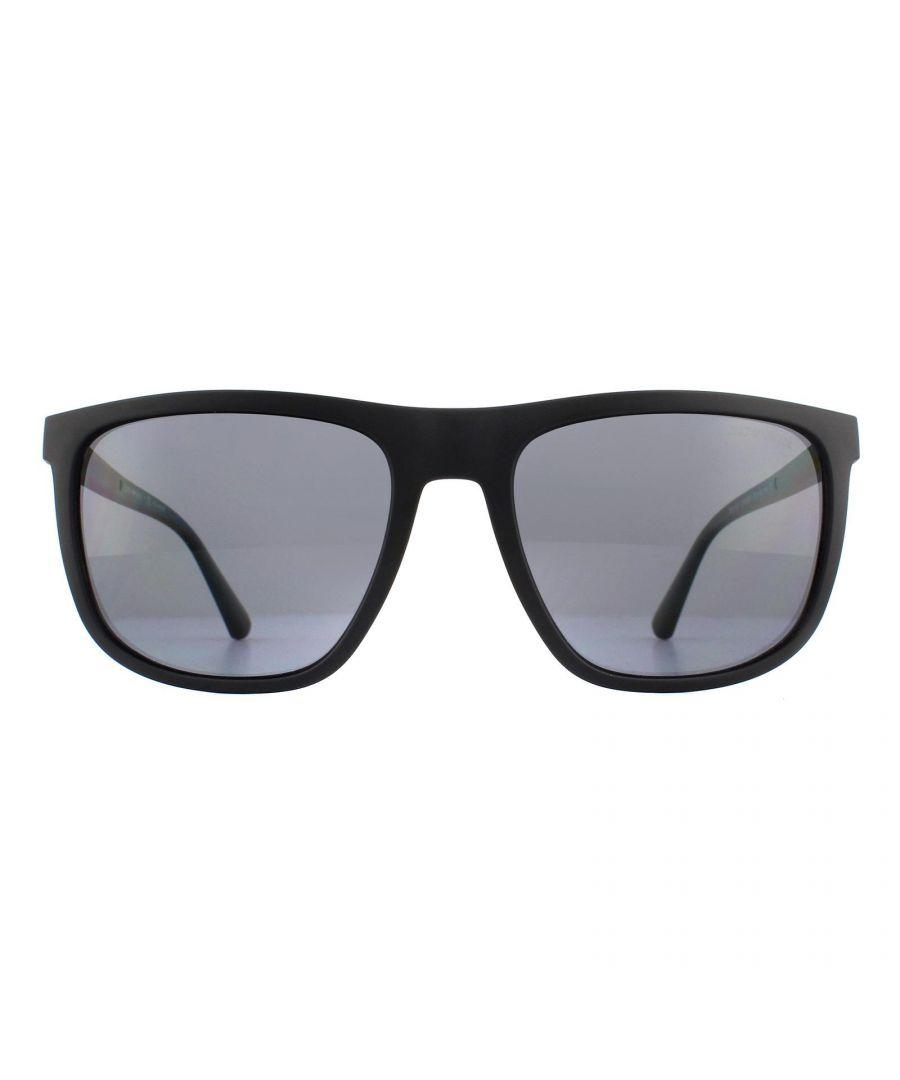 Image for Emporio Armani Sunglasses EA4124 573381 Matte Black Grey Polarized