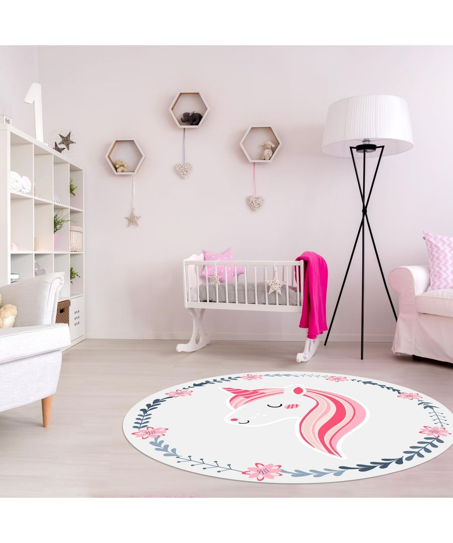 Image for Magical Unicorn Mat 99 cm Diameter Floor Mats, Floor Rugs