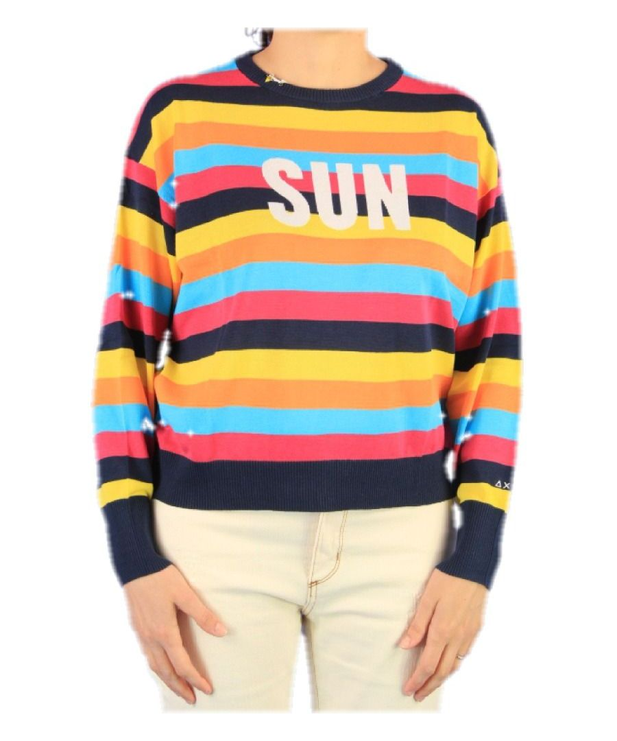 Image for SUN 68 WOMEN'S K3020807 MULTICOLOR WOOL SWEATER