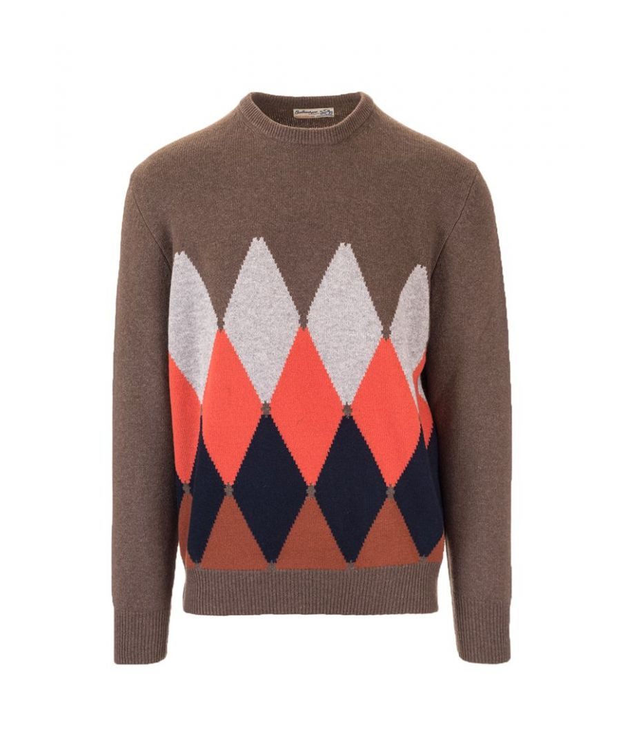 Image for BALLANTYNE MEN'S P2P0007K0A894551 BROWN CASHMERE SWEATER