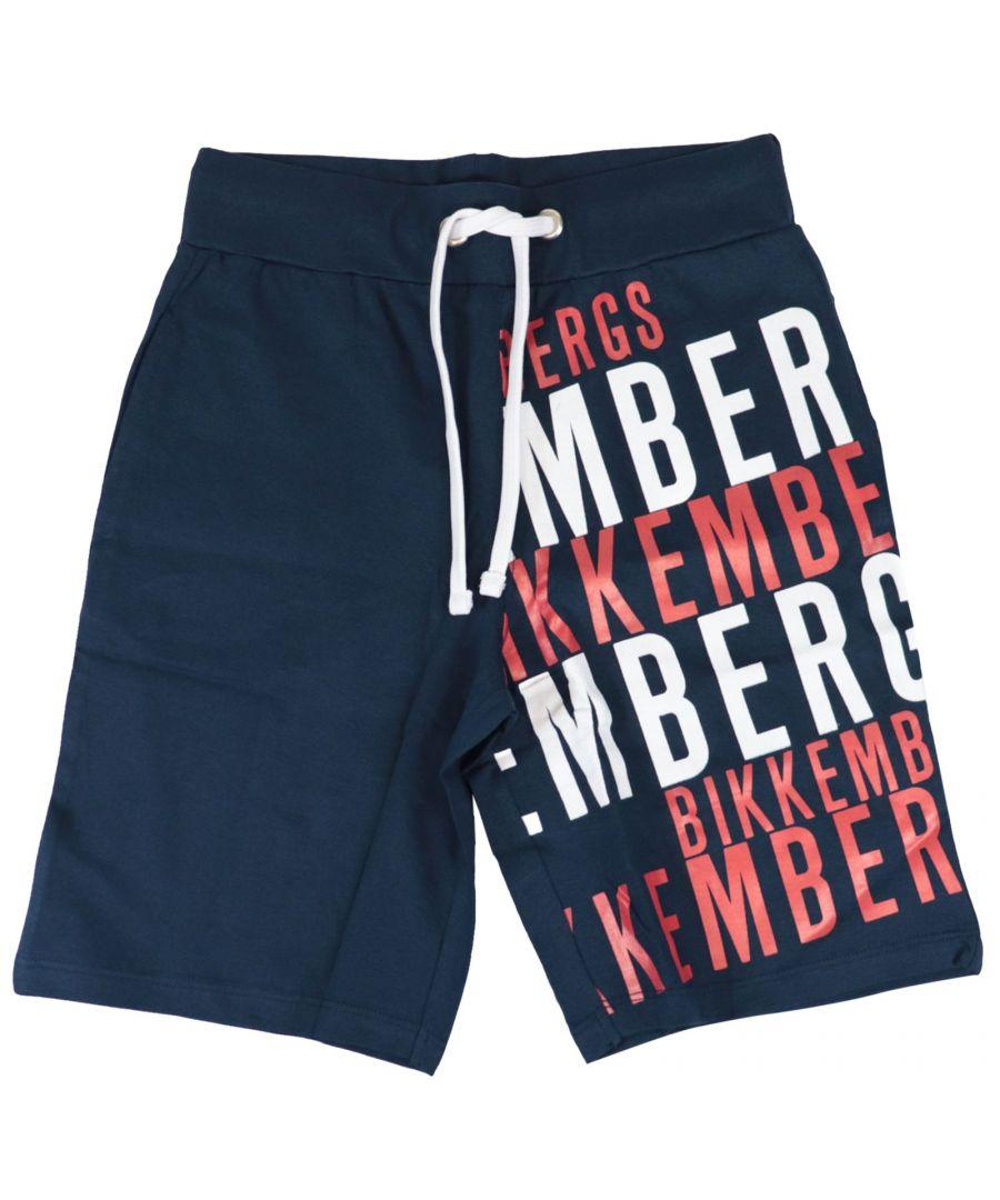 Image for BIKKEMBERGS BOYS TQ5012510754 BLUE COTTON SHORTS