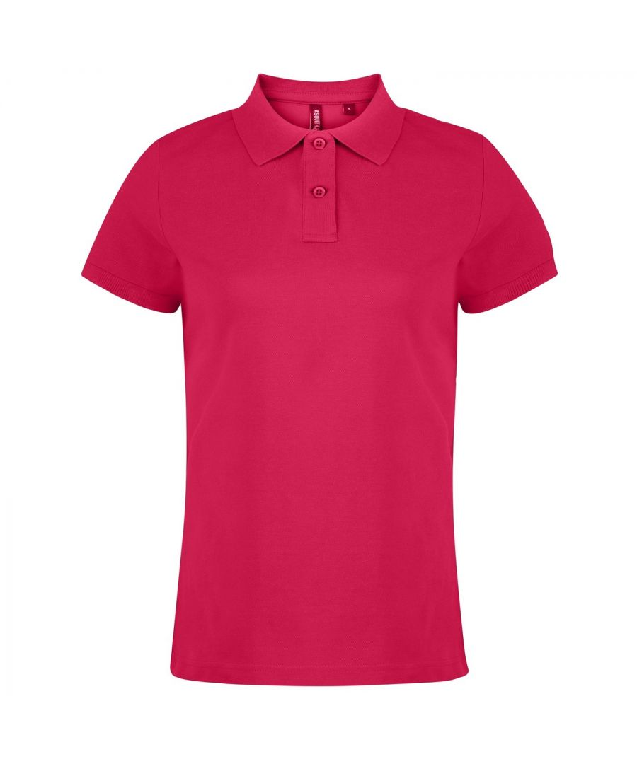 Image for Asquith & Fox Womens/Ladies Plain Short Sleeve Polo Shirt (Hot Pink)
