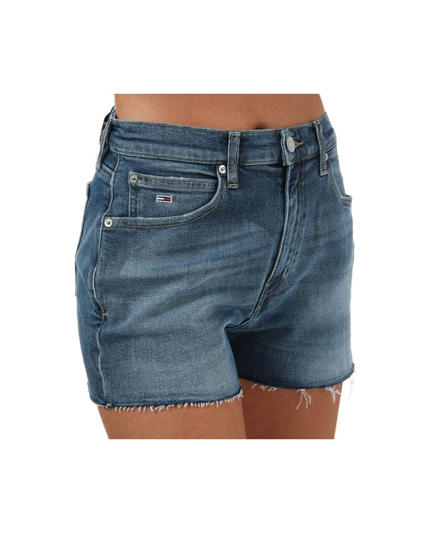 Image for Women's Tommy Hilfiger Tommy Badge Relaxed Denim Shorts in Denim