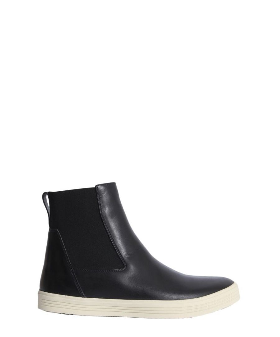 Image for RICK OWENS WOMEN'S RP18F4865LHV91 BLACK LEATHER ANKLE BOOTS