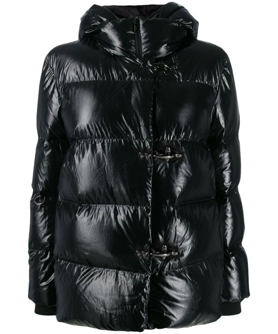 Image for FAY WOMEN'S NAW36395220RBNB999 BLACK POLYAMIDE DOWN JACKET