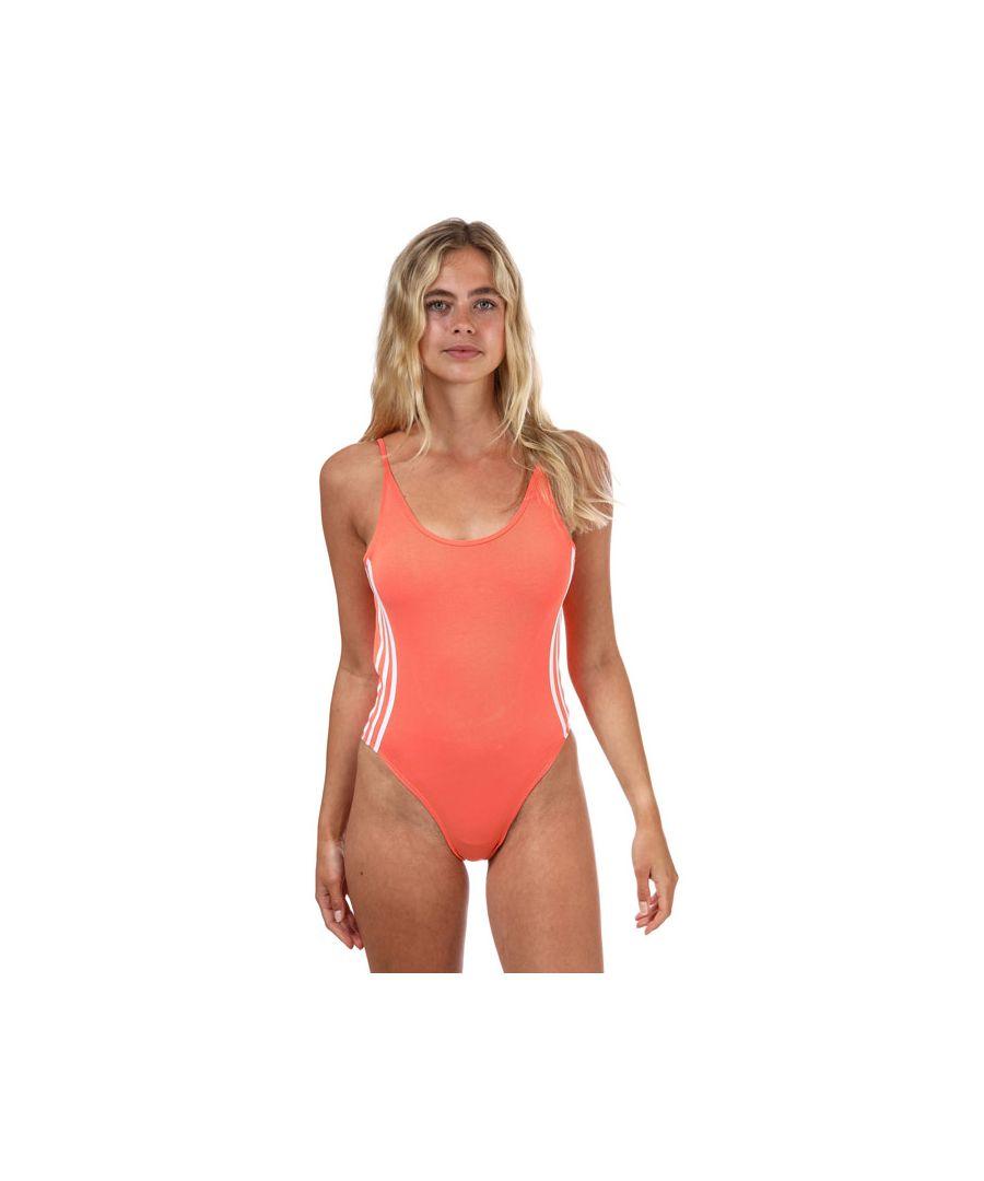 Image for Women's adidas Originals Cotton Bodysuit In Coral