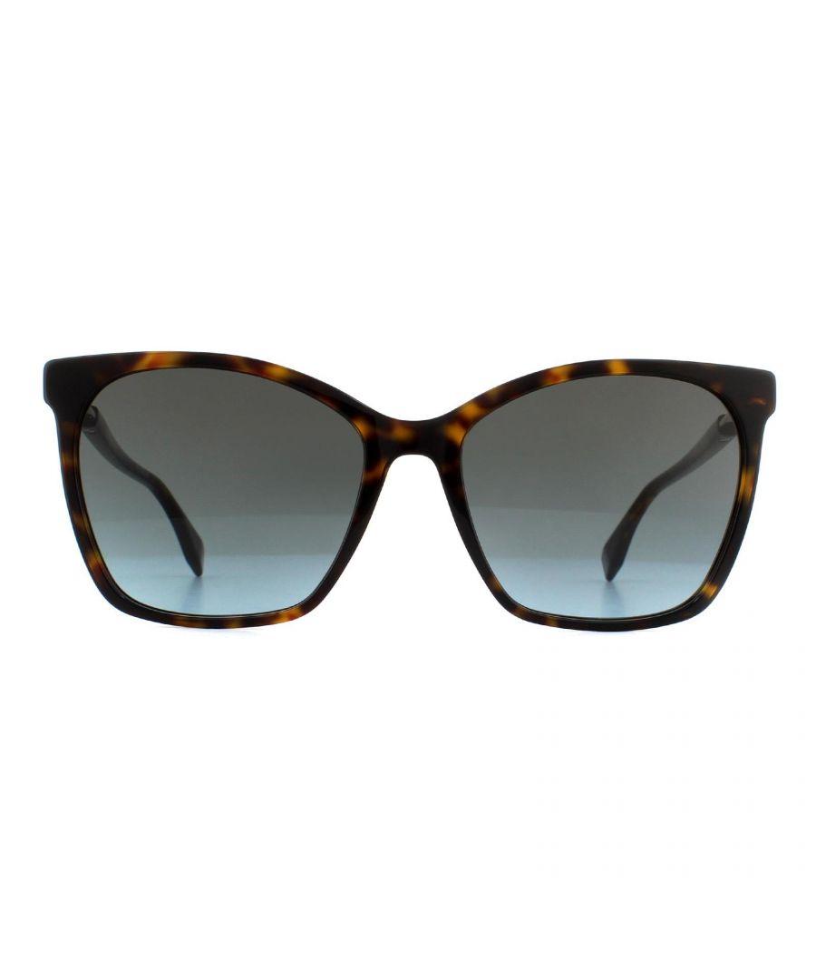 Image for Fendi Sunglasses FF 0344/S 086 1I Dark Havana Grey to Blue Gradient