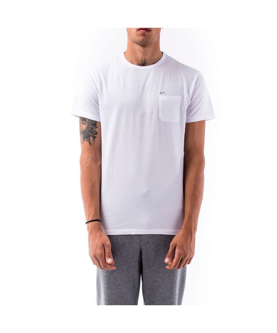 Image for SUN 68 MEN'S T3010101 WHITE COTTON T-SHIRT