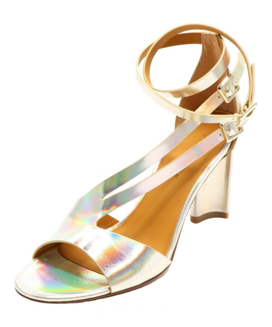 Image for Clergerie Paris Women's Ardent Platine Double Gold Ankle-High Leather Sandal - 7.5 M