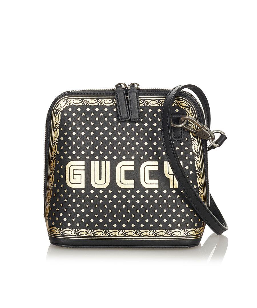 Image for Vintage Gucci Mini Guccy Sega Crossbody Bag Black