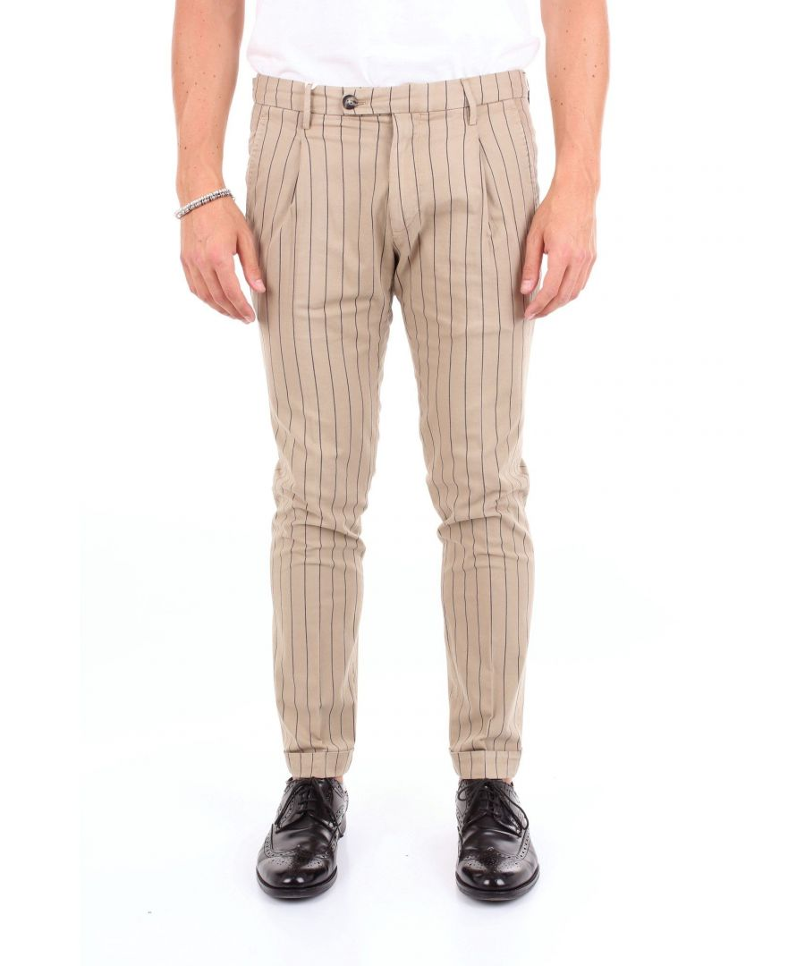 Image for MICHAEL COAL MEN'S FREDERICK2589ROPE BEIGE COTTON PANTS