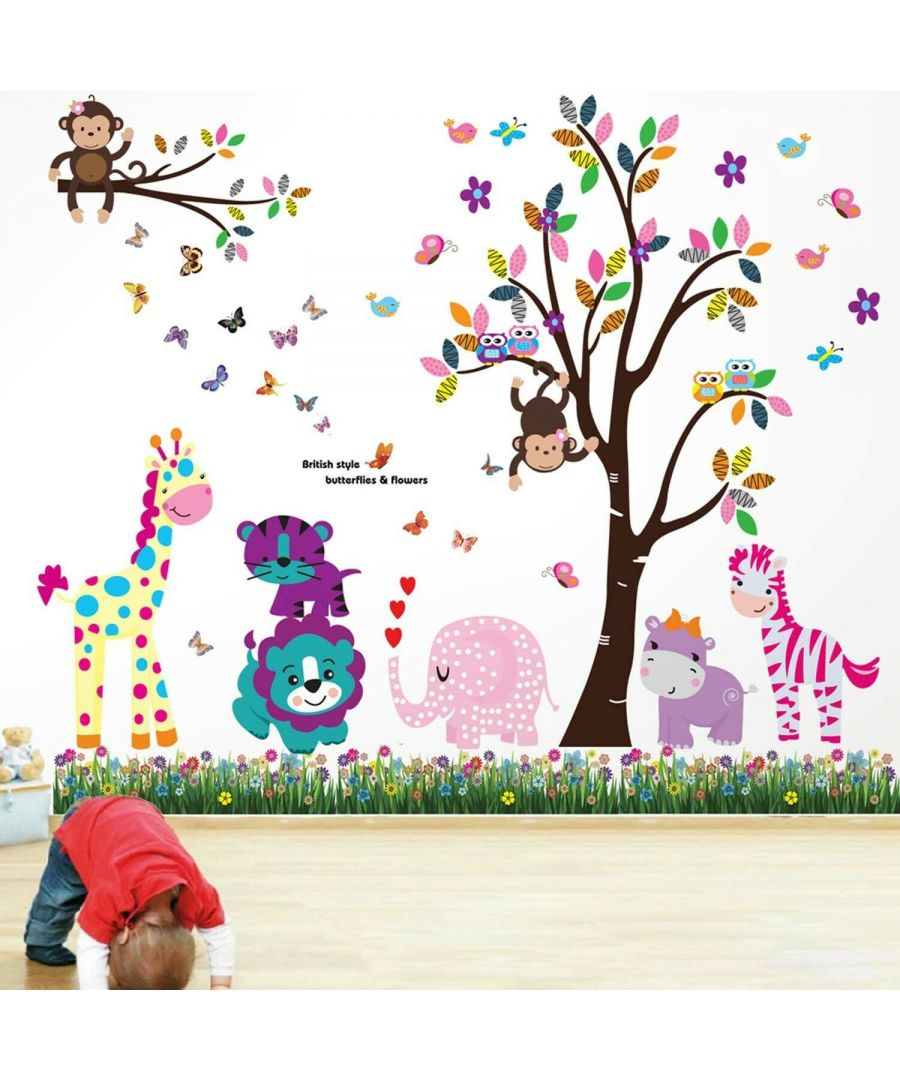 Image for Wall Art - Happy Animals Tree + Butt Grass