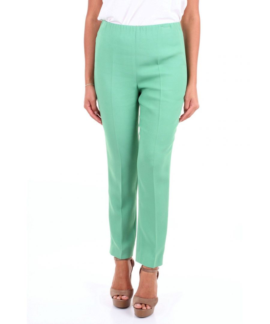 Image for LES COPAINS WOMEN'S 0L3784AQUAMARINE GREEN VISCOSE PANTS
