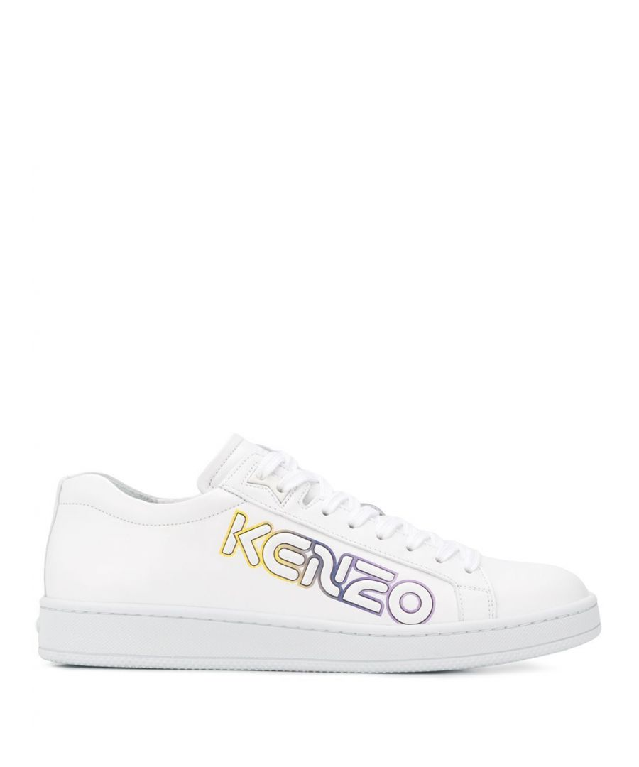Image for KENZO MEN'S FA55SN132L7701 WHITE LEATHER SNEAKERS