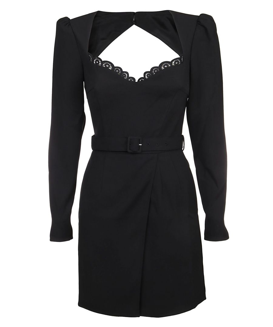 Image for SELF-PORTRAIT WOMEN'S SP23063SBLACK BLACK POLYESTER DRESS