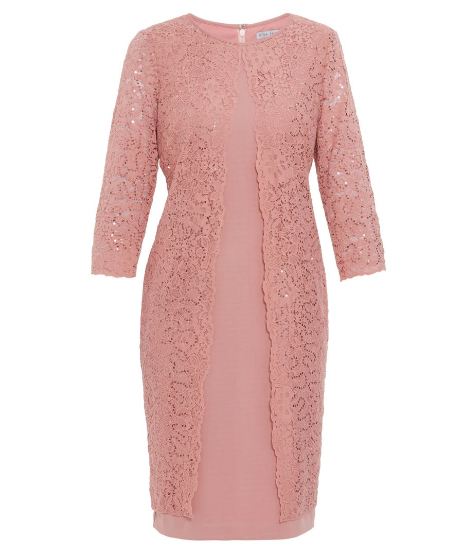 Image for Farlyn Crepe And Lace Dress
