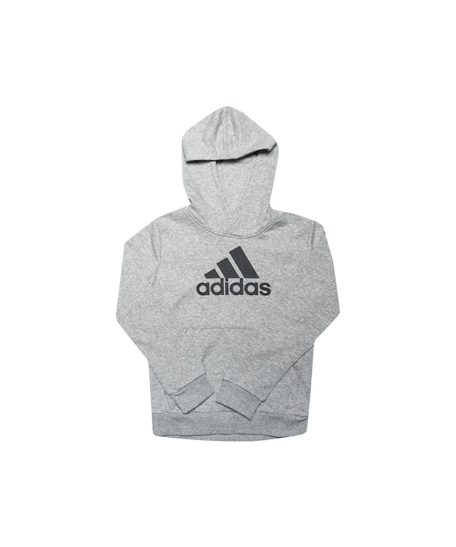 Image for Boys' adidas Junior Must Haves Bos Hoodie Grey Heather 11-12In Grey Heather
