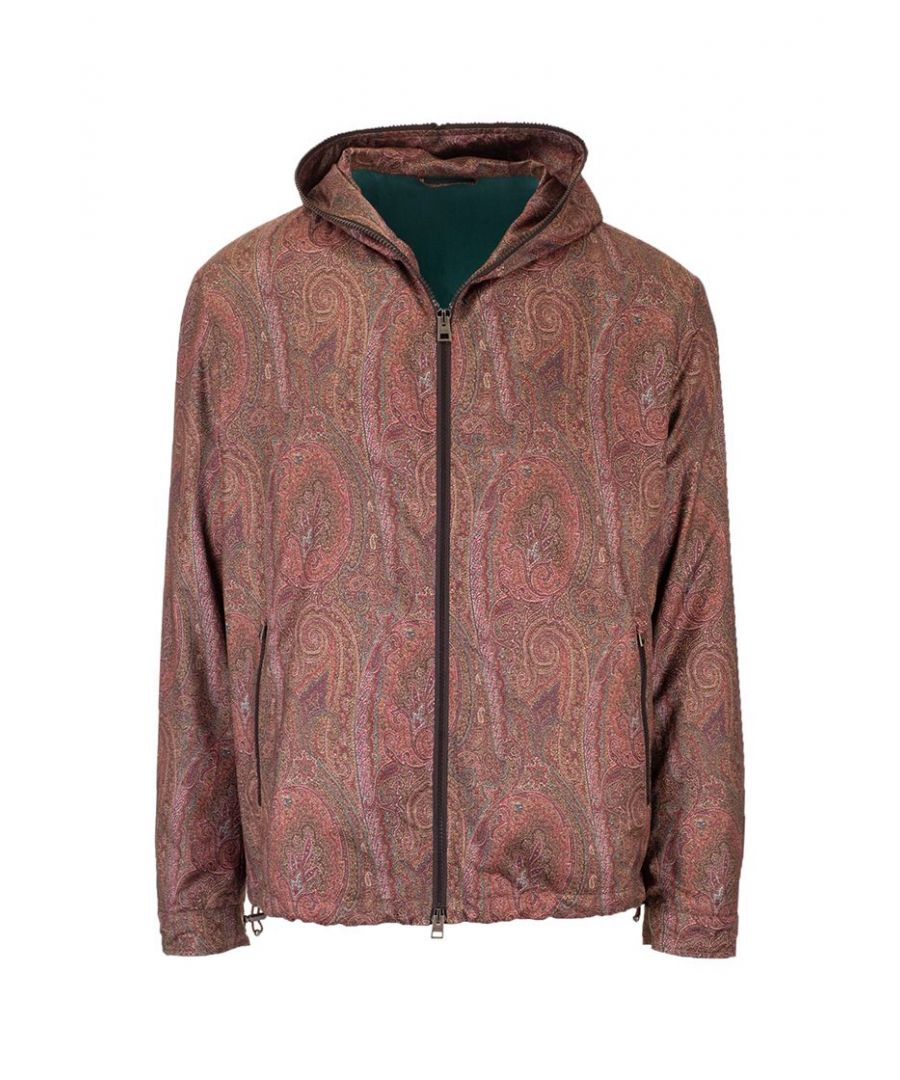 Image for ETRO MEN'S 1S80013340300 BURGUNDY POLYESTER OUTERWEAR JACKET