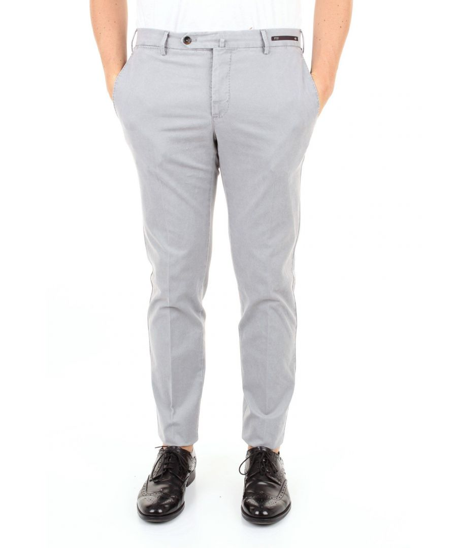 Image for PT01 MEN'S TU64KL01Z00MA2GRIGIO GREY COTTON PANTS