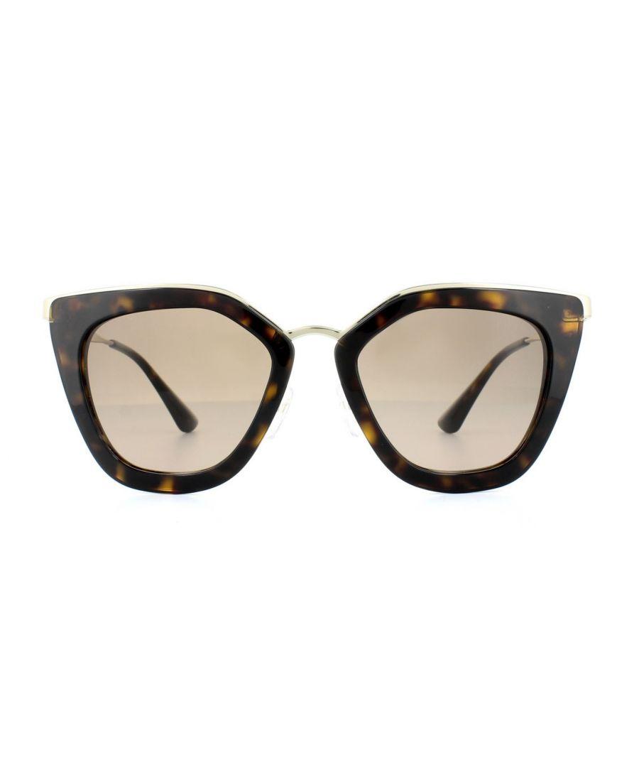 Image for Prada Sunglasses Cinema Evolution 53SS 2AU3D0 Dark Havana Light Brown Grey Gradient