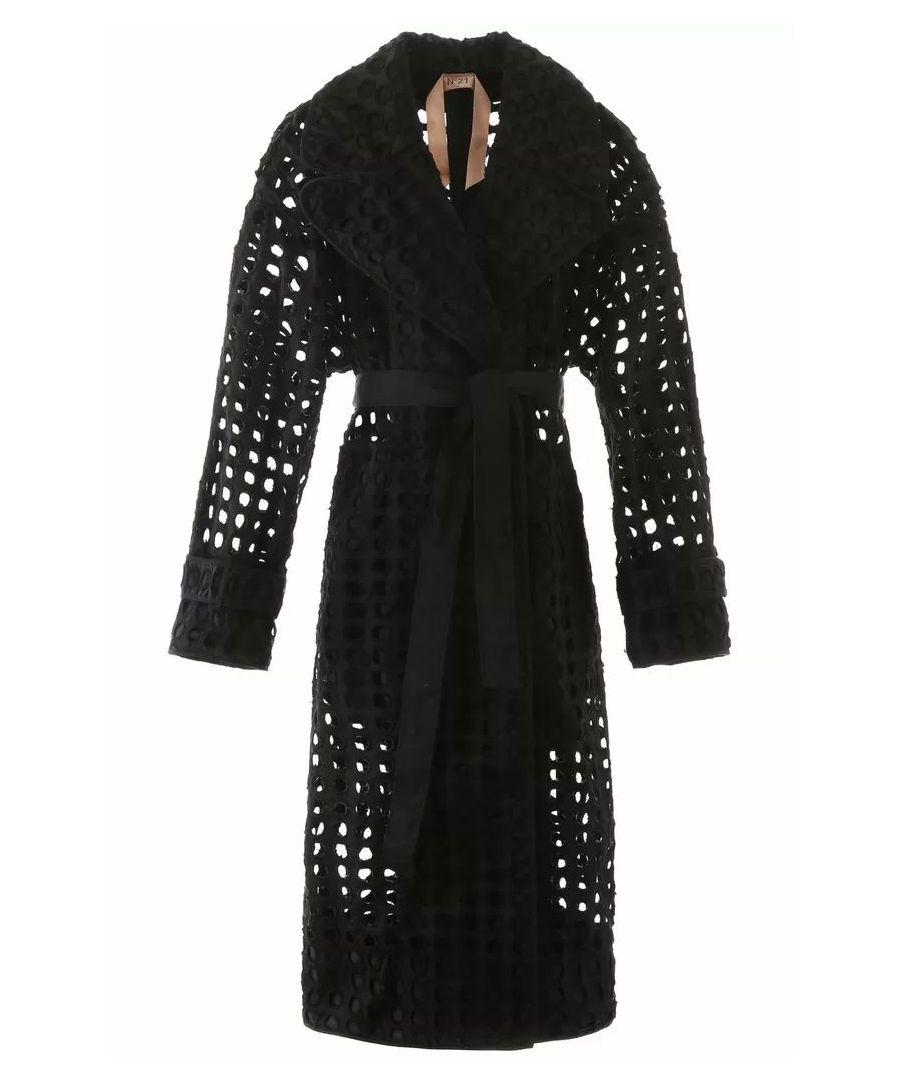 Image for N°21 WOMEN'S N03251849000 BLACK POLYESTER COAT