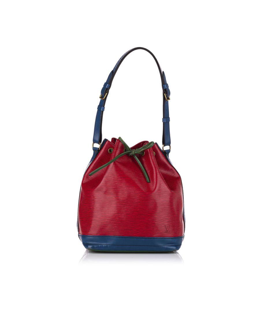 Image for Vintage Louis Vuitton Epi Tricolor Noe Red