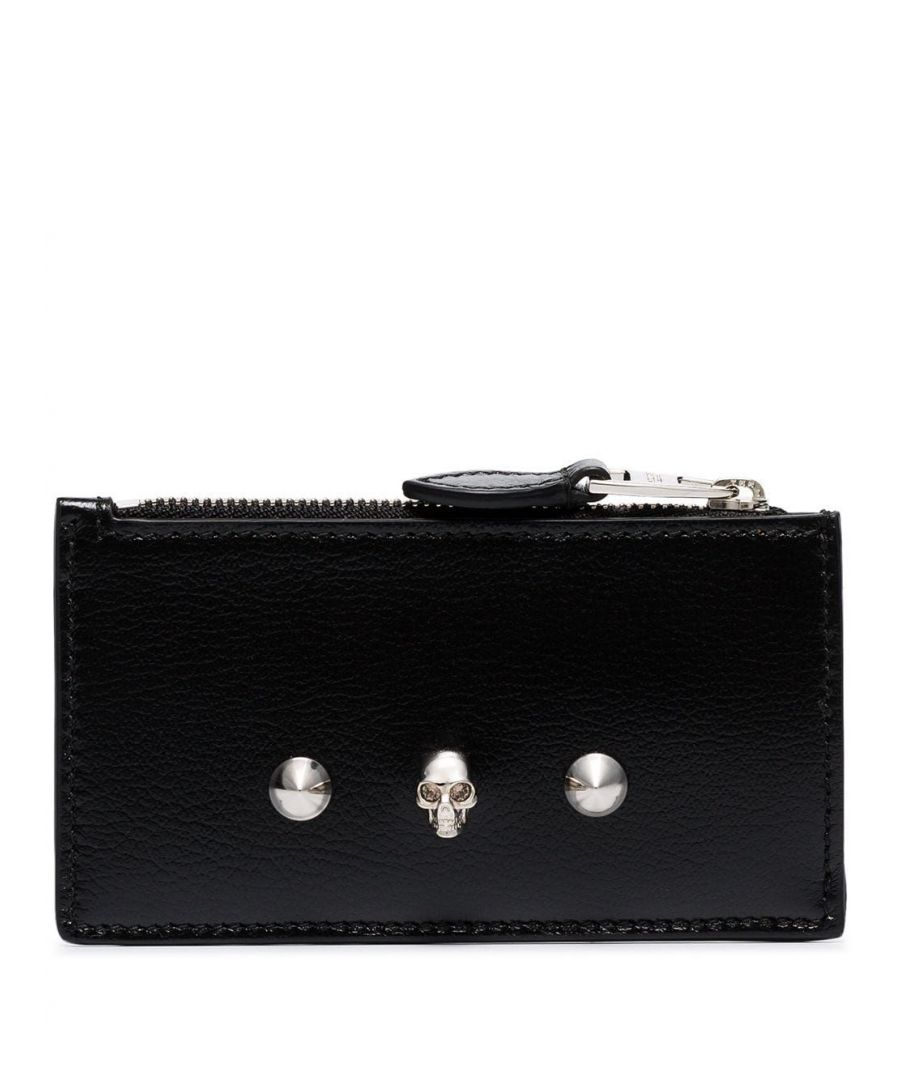 Image for ALEXANDER MCQUEEN WOMEN'S 6102051SM2I1050 BLACK LEATHER CARD HOLDER