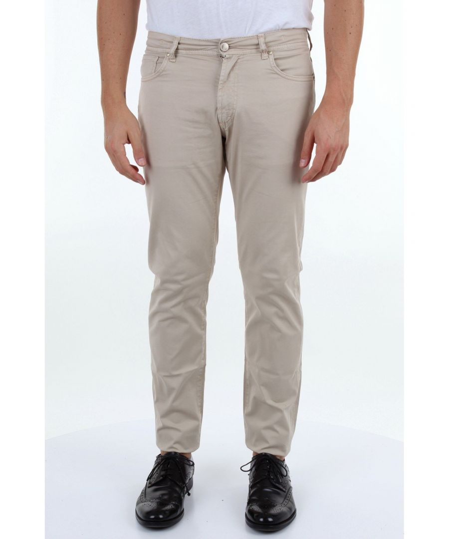 Image for MICHAEL COAL MEN'S GEORGE2595BEIGE BEIGE COTTON PANTS