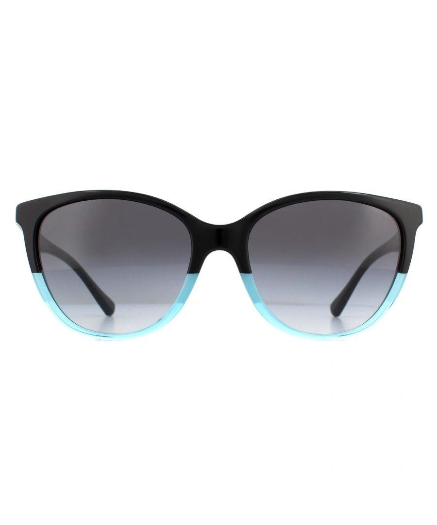 Image for Emporio Armani Sunglasses EA4110 56328G Black Azure Gray Gradient