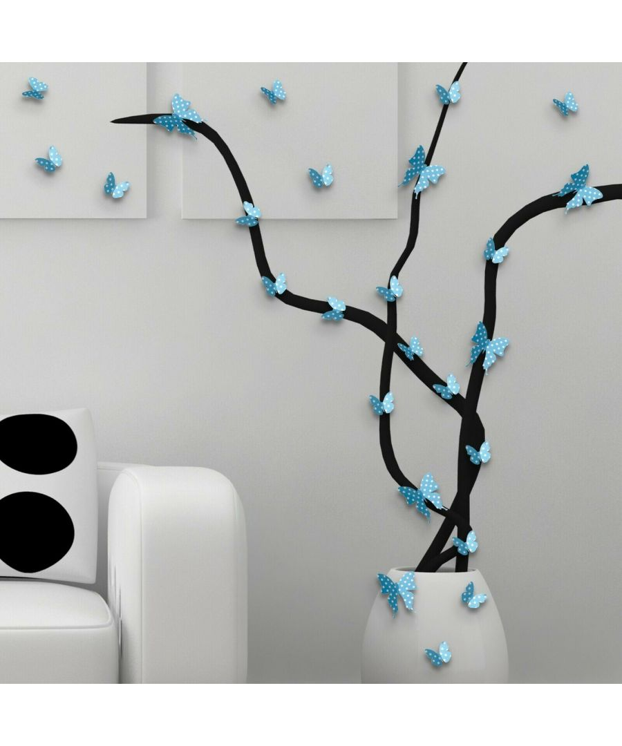 Image for WFX1602 - Blue White Dots Butterflies