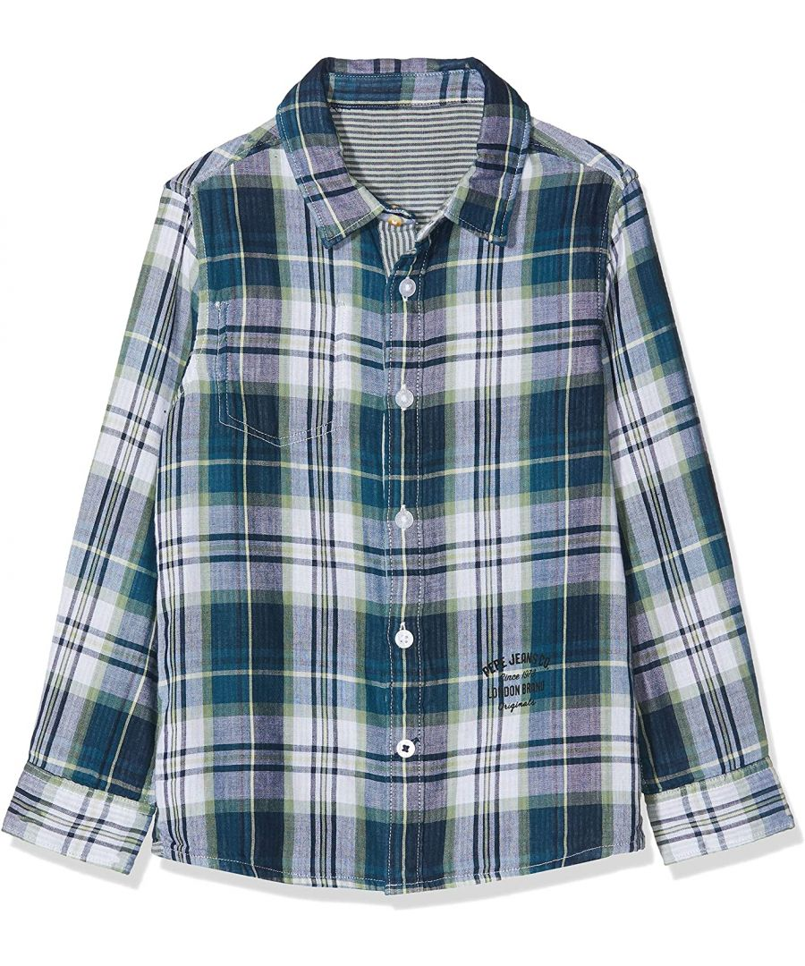 Image for Pepe Jeans Boys Shannon Check Shirt in Blue