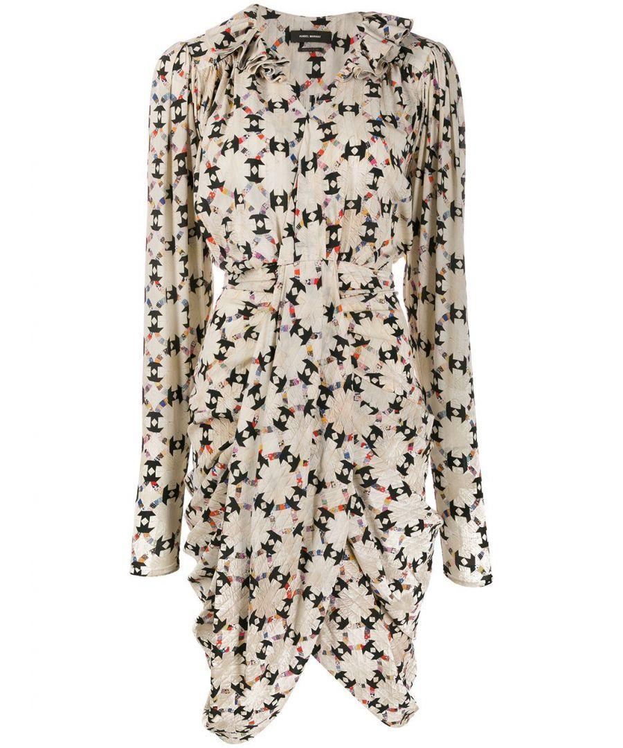 Image for ISABEL MARANT WOMEN'S RO153919H025I23EC MULTICOLOR SILK DRESS